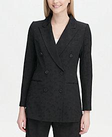 Calvin Klein Double-Breasted Jacquard Blazer