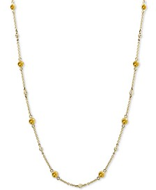 EFFY® Yellow Sapphire (1-3/8 ct. t.w.) and Diamond (1/8 ct. t.w.) Necklace in 14k Gold, 18""