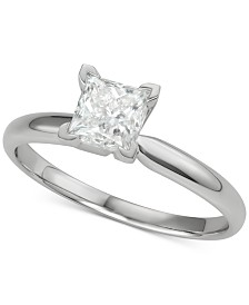Diamond Princess Solitaire Engagement Ring (1 ct. t.w.) in 14k White Gold