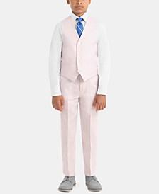 Little & Big Boys Contemporary Linen Vest & Pants Separates