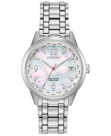 Eco-Drive Women's World Time (non A-T) Stainless Steel Bracelet Watch 36mm