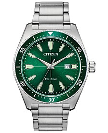Citizen Eco-Drive Men's Brycen Stainless Steel Bracelet Watch 43mm