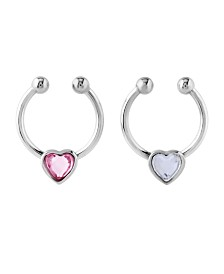 Bodifine Stainless Steel Set of 2 Faux Septum