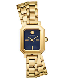 Tory Burch Women's Robinson Gold-Tone Stainless Steel Double Wrap Bracelet Watch 22mm