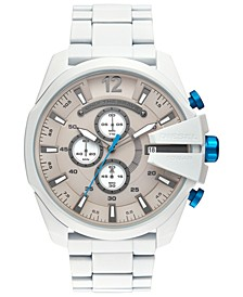 Men's Chronograph Mega Chief White Stainless Steel Bracelet Watch 51mm