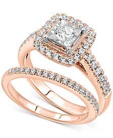 Diamond Bridal Set (3/4 ct. t.w.) in 14k Rose Gold