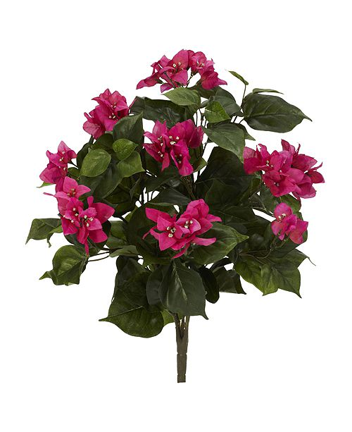 "Nearly Natural 20"" Bougainvillea Artificial Plant, Set of 3"