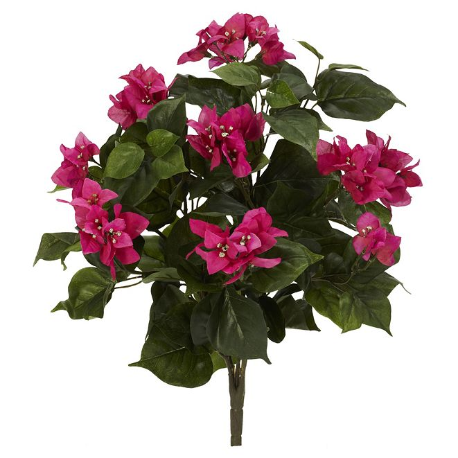 """Nearly Natural 20"""" Bougainvillea Artificial Plant, Set of 3"""