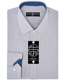 Society of Threads Men's Slim-Fit Non-Iron Performance Squared Dot Dress Shirt