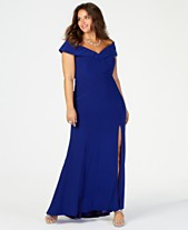 96d0056753c6 XSCAPE Plus Size Off-The-Shoulder Gown