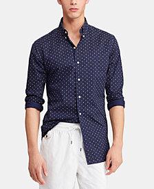 Polo Ralph Lauren Men's Slim Fit Anchor-Print Cotton Shirt