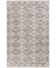 "CLOSEOUT! Farmhouse Boho 3212 Grey 3'3"" x 4'11"" Indoor/Outdoor Area Rug"