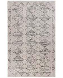 "KAS Farmhouse Boho 3212 Grey 6'7"" x 9'6"" Indoor/Outdoor Area Rug"
