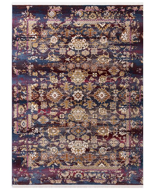 "Kas CLOSEOUT! Papillon Cypress 4525 Jeweltone 2'7"" x 9'10"" Runner Area Rug"