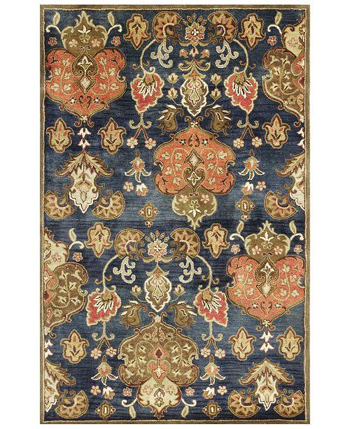 "Kas Syriana Tapestry 6020 Navy 3'3"" x 5'3"" Area Rug"