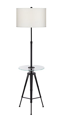 Pacific Coast Tripod Floor Lamp with Glass Tray