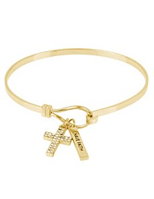 Pave Cross Charm Bracelet