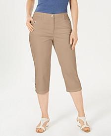 Button-Hem Capri Pants, Created for Macy's