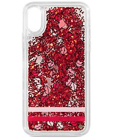 kate spade new york Lips Liquid Glitter iPhone XS Max Case
