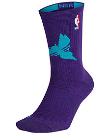 Nike Men's Charlotte Hornets Elite Team Crew Socks