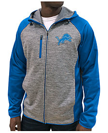 G-III Sports Men's Detroit Lions Neutral Zone Full-Zip Hoodie