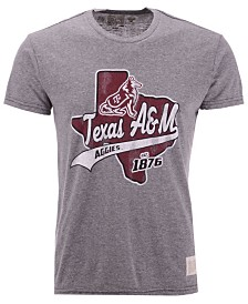 Retro Brand Men's Texas A&M Aggies Retro Logo Tri-Blend T-Shirt