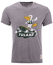 Men's Tulane Green Wave Retro Logo Tri-Blend T-Shirt
