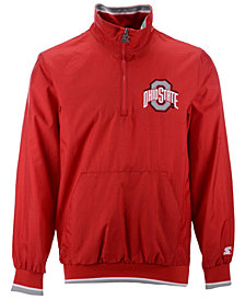 Starter Men's Ohio State Buckeyes Lightweight Nylon Quarter-Zip Pullover