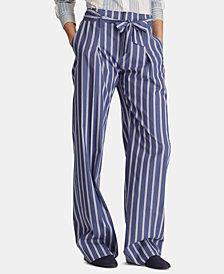 Lauren Ralph Lauren Petite Lightweight Striped Cotton Pants