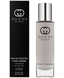 Receive a Complimentary Gucci Guilty Pour Homme Travel Spray with any large spray purchase from the Gucci Guilty Pour Homme fragrance collection