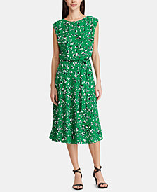 Lauren Ralph Lauren Petite Cap-Sleeve Georgette Dress