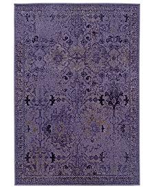 """CLOSEOUT! Oriental Weavers Area Rug, Revamp REV7802M Violet 1'10"""" x 7'6"""" Runner Rug"""