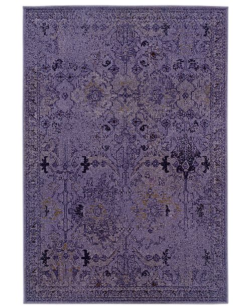 "Oriental Weavers CLOSEOUT! Area Rug, Revamp REV7802M Violet 9'10"" x 12'10"""