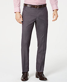 Perry Ellis Men's Portfolio Slim-Fit Stretch Gray Solid Suit Pants