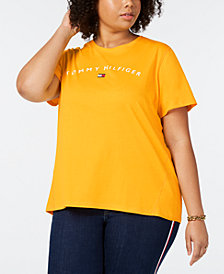Tommy Hilfiger Sport Plus Size Logo Graphic T-Shirt, Created for Macy's