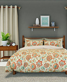 Bella Duvet Cover Set, Full/Queen, Melon