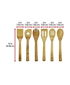6-Piece Bamboo Cooking Utensil Set