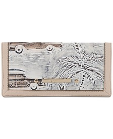 Ady Wallet Ivory Copa Cabana Embossed Leather Wallet