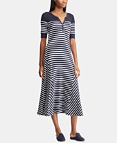 7b982dde9f465 Lauren Ralph Lauren A-Line Striped Cotton Dress