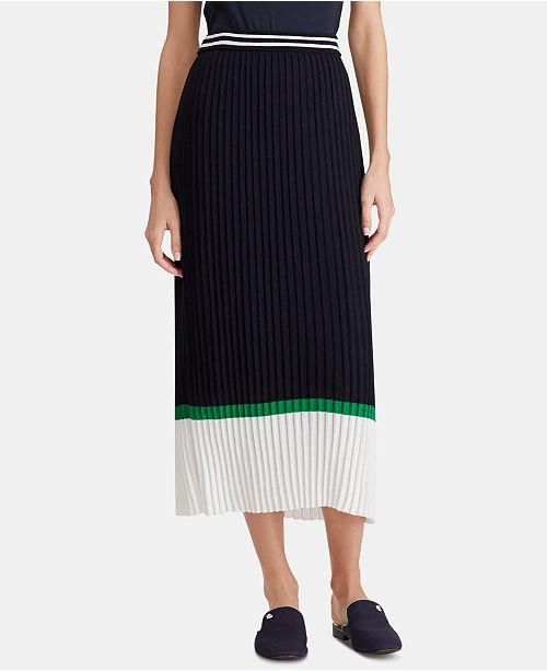 Lauren Ralph Lauren Colorblocked Cotton Skirt