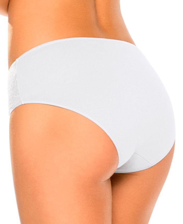 Leonisa 3 Brief Panties With Lace & Reviews - Bras, Panties & Lingerie - Women - Macy's