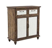 """Rustic 33"""" x 30"""" 2-Door Rectangular Wooden Cabinet with Drawers"""