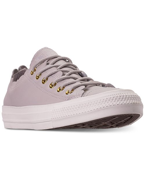 424bab94cd35 ... Converse Women s Chuck Taylor All Star Low Top Frilly Thrills Casual  Sneakers ...