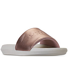 Lacoste Women's Croco Slide Paris Slide Sandals from Finish Line