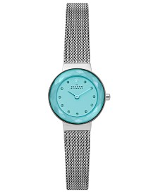 Skagen Women's Leonora Stainless Steel Mesh Bracelet Watch 25mm