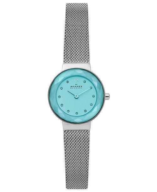 Skagen Women's Leonora Stainless Steel Mesh Bracelet Watch 25mm
