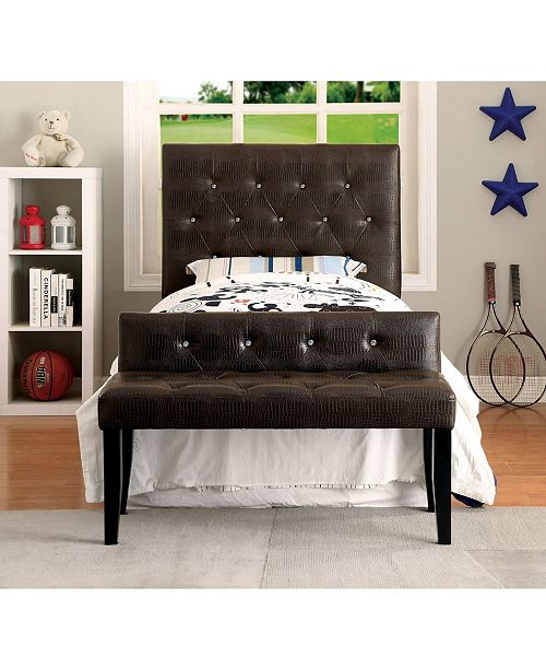 Furniture of America Chasidy Twin Faux Leather Headboard