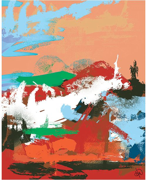 "Creative Gallery Orange Hills Abstract 16"" x 20"" Acrylic Wall Art Print"