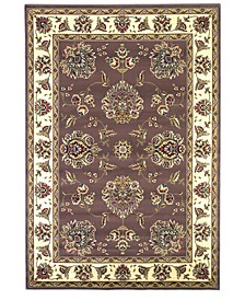 "Cambridge Floral Mahal 7'7"" Round Area Rug"