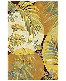 """Sparta Breezes 3113 Coral/Ivory 7'9"""" x 9'6"""" Area Rug"""